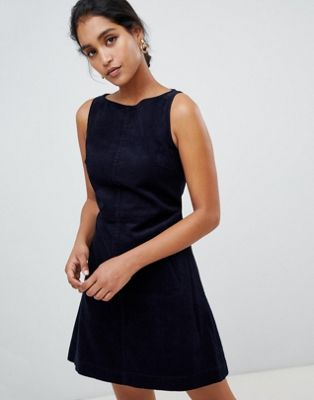 Oasis cord shift dress in navy