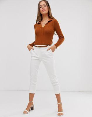 Oasis cotton capri pants