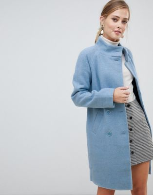 Image 1 of Oasis funnel neck coat in blue