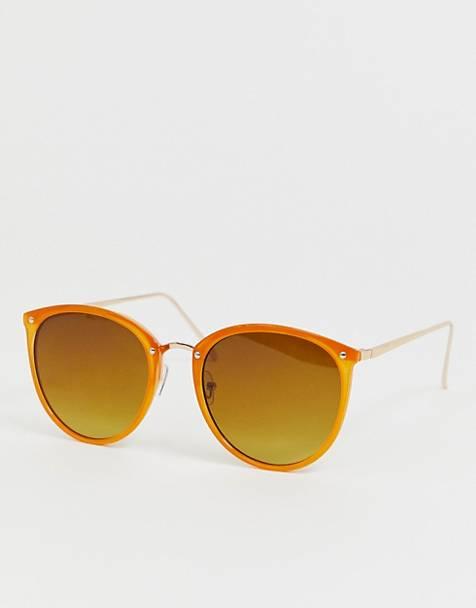 7dcfb0b8d0957 Oasis - Lunettes de soleil rondes - Orange