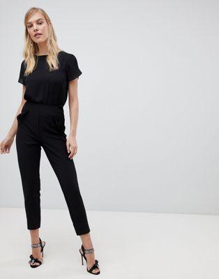 Oasis - Pantaloni sartoriali con tasche e volant