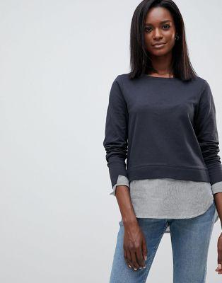 Image 1 sur Oasis - Pull 2-en-1 avec partie principale en jersey