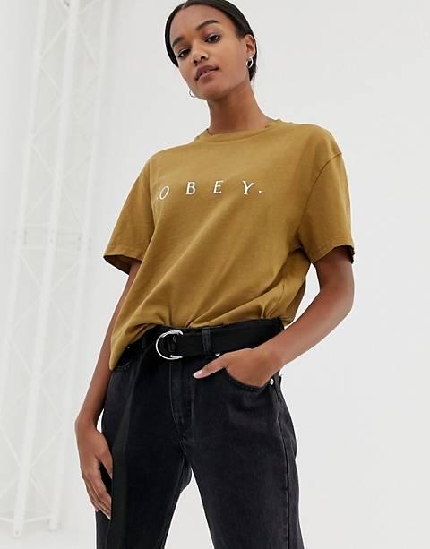 Obey - T-shirt décontracté avec logo sur le devant