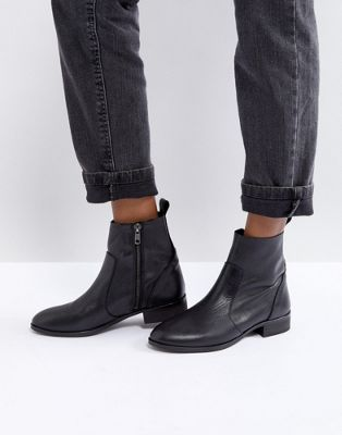 Office - Ashleigh - Bottines plates en cuir - Noir