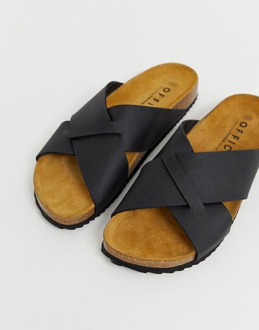 Office Fiji sandals in black