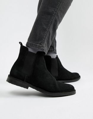Office Iberian chelsea boots in black suede
