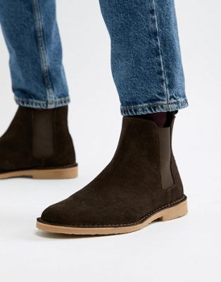 Office Iberian chelsea boots in brown suede