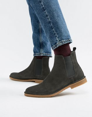 Office Iberian chelsea boots in gray suede