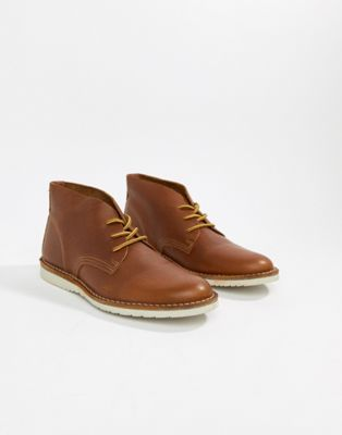 Office Identity chukka boots in tan leather