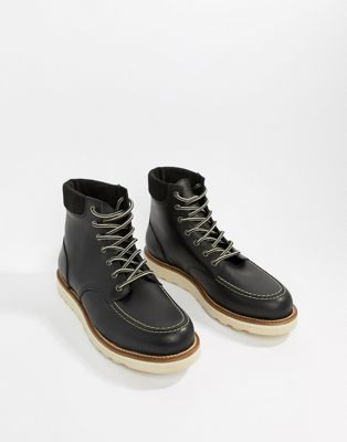 Office Idyllic hiker boots in black leather