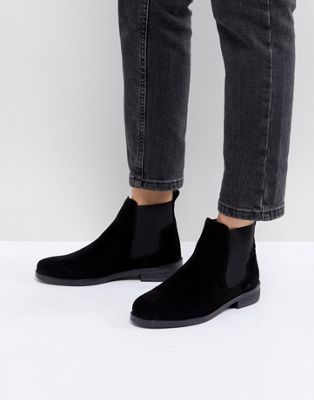 Office - Jamie - Bottines Chelsea plates - Daim noir