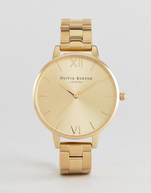 Olivia Burton Big Dial Gold Bracelet Watch OB13BL08BS