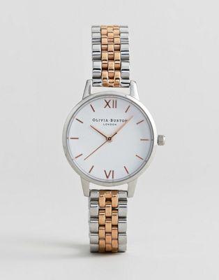 Olivia Burton - OB16MDW25 - Montre à cadran blanc et bracelet en métal divers