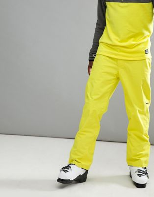 Image 1 of O'Neill Hammer Ski Pants in Neon Yellow