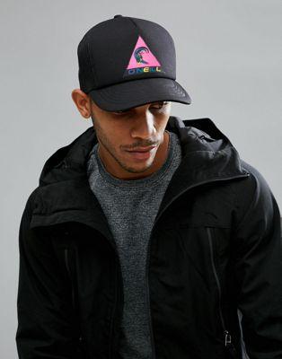 O'Neill Neon Logo Trucker Cap in Black