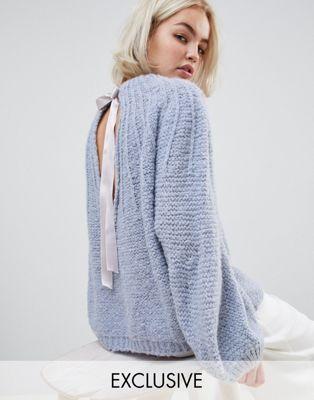 OneOn - Dreams - Soffice maglione lavorato con laccetti