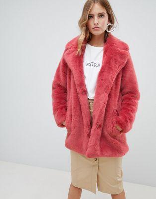 Only faux fur coat