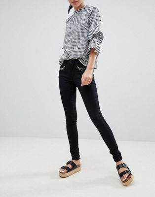 Only - Royal - Skinny jeans versierd met parels
