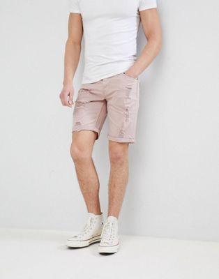 Afbeelding 1 van Only & Sons - Gekleurde denim distressed shorts