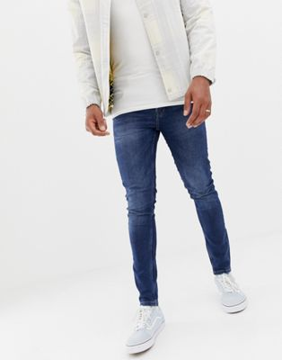 Afbeelding 1 van Only & Sons - Skinny jeans met blauwe wassing