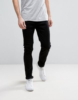 Only & Sons - Svarta stretchjeans i smal passform