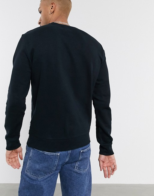 Only & Sons - Sweat-shirt ras de cou en coton biologique - Noir