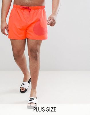 Оранжевые шорты для плавания с логотипом-галочкой Nike Plus Volley NESS8457-618