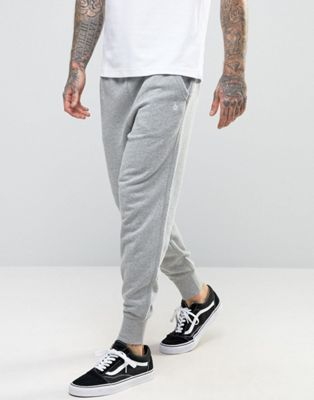 Original Penguin Cuffed Jogger Slim Fit Small Logo in Grey