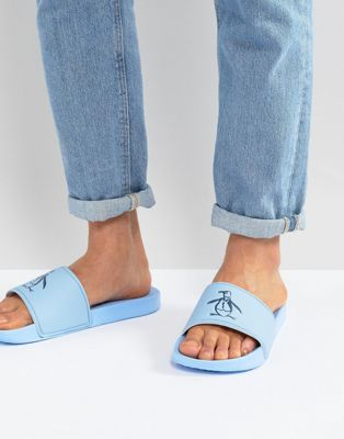 Original Penguin Sliders In Pale Blue