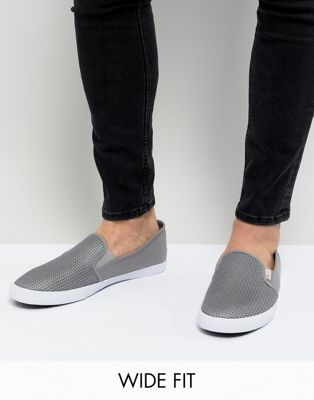 Original Penguin Wide Fit Mesh Plimsolls In Grey