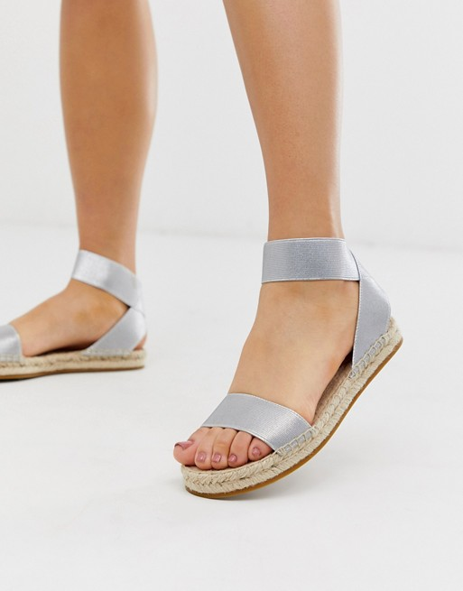 & Other Stories espadrills with strap detail in silver