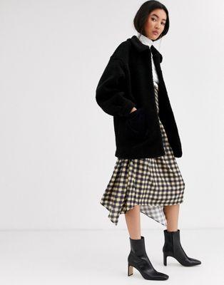 & Other Stories - Manteau duveteux avec poche - Noir