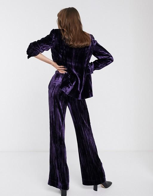 & Other Stories - Pantalon en velours frappé - Violet foncé 0iFIr1