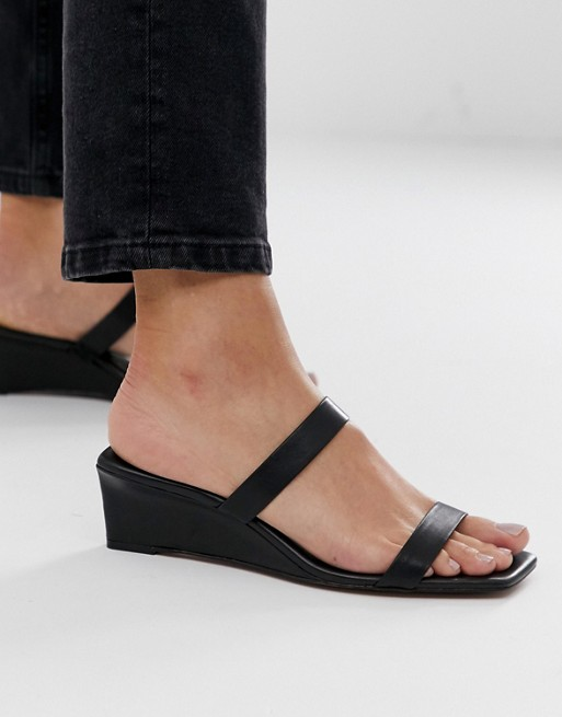 Image 1 of & Other Stories squared heeled sandals in black