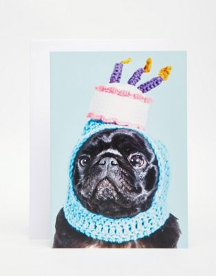Открытка Jolly Awesome Pug Birthday Hat