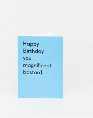 "Открытка к дню рождения ""Happy Birthday you magnificent bastard"" Ohh Deer"