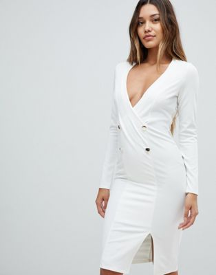 Outrageous Fortune blazer dress in ivory