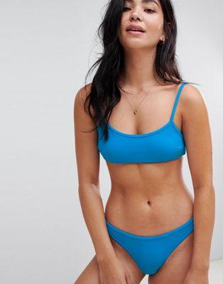 Oysho – Blå, enkel bikiniunderdel