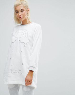 Oysho Fluffy Cloud Pyjama Top