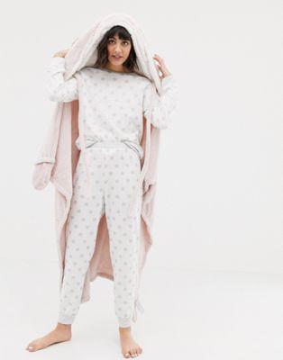 Oysho - Robe de chambre motif lapins - Rose