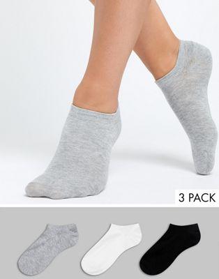 Oysho - Set van 3 sokken in zwart, wit en grijs