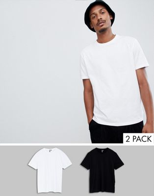 Pack de 2 camisetas de corte holgado con cuello redondo de ASOS DESIGN, AHORRA