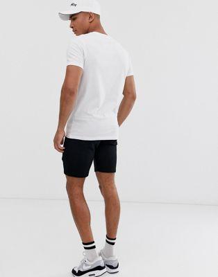 De Cortos Ajustados Pantalones Pack Cuello Redondo Camiseta Punto 2 Design Con Asos Y mNwvn80