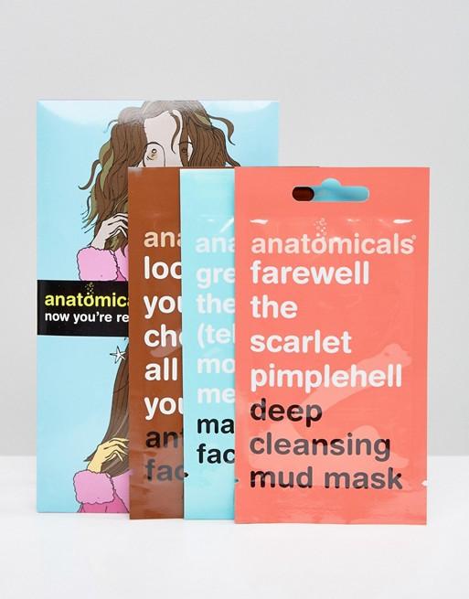 Pack de 3 mascarillas faciales de Anatomicals
