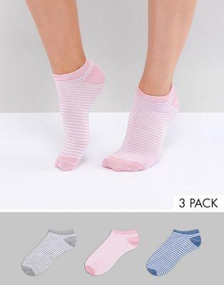 Pack de 3 pares de calcetines a rayas de Fruitcake