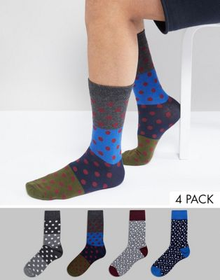 Pack de 4 pares de calcetines de Jack & Jones