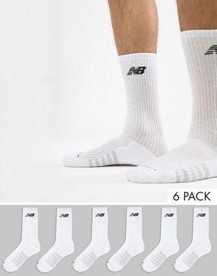Pack de 6 pares de calcetines de deporte en blanco N5050-801-6EU WHT de New Balance