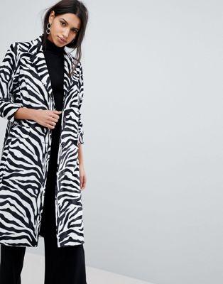 Пальто с зебровым принтом Helene Berman
