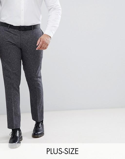Pantalón de traje ajustado con diseño jaspeado de Farah PLUS