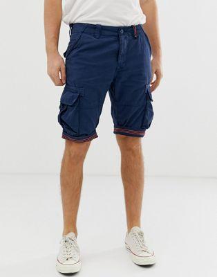 Imagen 1 de Pantalones cortos cargo en azul marino Core de Superdry